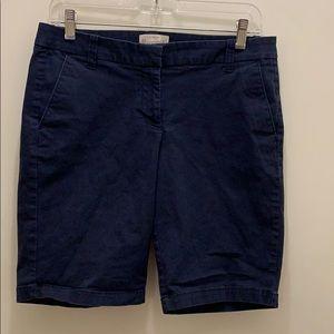 J. Crew Factory navy Bermuda shorts